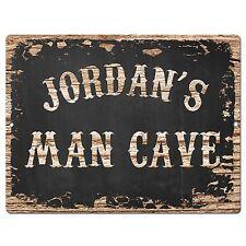 PP2996 JORDAN'S MAN CAVE Plate Chic Sign Home Room Garage Decor Birthday Gift