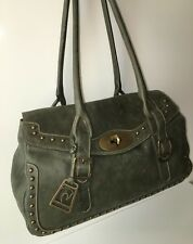 Petusco Handbag  Dark Green Genuine Leather Satchel Bag Spanish Horse logo NWT
