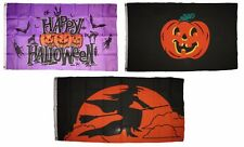 3x5 Happy Halloween 3 Pack Flag Wholesale Set #120 Combo 3'x5' Banner Grommets