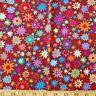 HALF YARD Westminster Kaffe Fassett Star Flower Brown Rust Orange Red Blue