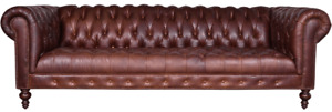 Chestefield Sofa Couch Leather Designer Textile Seat Pads Set Design 201809
