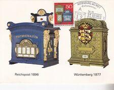 Maximumkarte Briefkästen Wrrtb.1877, Reich 1896 mit SST Rotenburg, am 23.10.85