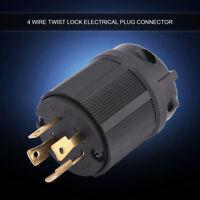 NEMA L14-30P 30A 125V-250V 4 Wire Twist Lock Electrical Generator Plug Connector