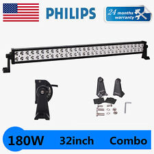 """PHILIPS 32"""" 180W LED WORK LIGHT BAR OFFROAD 4WD JEEP TRUCK SPOT FLOOD DRIVING US"""