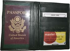 New Lamb skin USA Leather passport cover,  wallet credit card case ID holder NWT