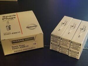 Nissan Infiniti OEM spark plug set of 6 Nissan 22401-EW61C Denso FXE22HR11