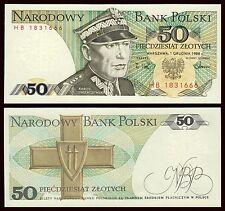Polonia - Poland  50 zlotych 1-12-1988 Pick 142c(2)  SC = UNC