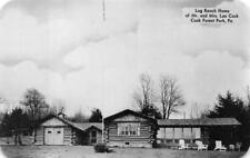 LOG RANCH HOME COOK FOREST PARK PENNSYLVANIA DEXTER PRESS POSTCARD (1940s)