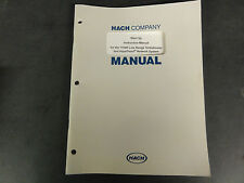 Hach Company 1720D Low Range Turbidimeter and AquaTrend Network Systems Manual