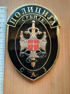 RARE SAJ SPECIAL ANTI TERRORIST UNIT SERBIA POLICE LARGE BADGE SERBISCHE POLIZEI