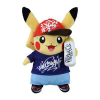 Pokemon Center Original Plush Doll SHIBUYA Graffiti Art Pikachu JAPAN OFFICIAL
