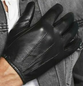 Men's Real Leather Police Gloves Patrol Search Combat Motorcycle Driving Costume