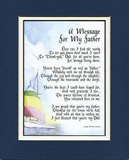 """"""" A Message for My Father"""" #19 Gift Keepsake Poem For A Father. Present for Dad"""