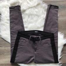 Women's Hudson LEELOO Super Skinny Crop Jeans Gray w| Black Stripes Size 27 EUC