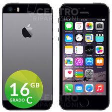 IPHONE 5S 16GB GRADO C NERO SPACE GREY GRIGIO RICONDIZIONATO RIGENERATO USATO
