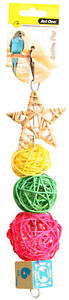 Avi One Destructable Toy Rattan Star Balls Parrot Budgie Finch Canary Conure