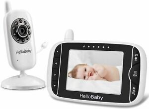 Video Baby Monitor with Camera and Audio | Keep Babies Nursery with Night Vision
