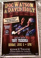 DOC WATSON, DAVID HOLT, TONY TRISCHKA POSTER-PHILADELPHIA 2011-SIGNED BY TRISCHK