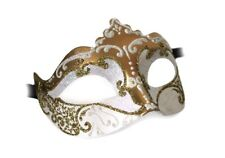 Venezianische Maske Colombina Stella weiss gold Handarbeit Karneval Venedig
