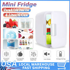 New Mini Portable Refrigerator 4Liter Mini Fridge Cosmetic Fridge/Warmer-White