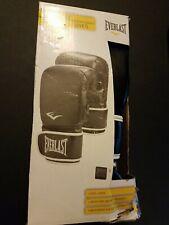 Everlast Heavy Bag Training Gloves Training Premium Synthetic Leather Black New