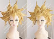 cosplay wig DRAGON BALL Saiyan Goku Dark Blonde explosion short hair Anime wigs