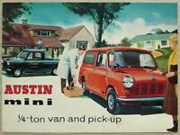 AUSTIN MINI ¼ TON VAN & PICK UP Car Sales Brochure c1960 #1874/A