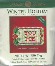 Christmas Gift Tag Glass Bead Kit Treasure by Mill Hill w Treasure