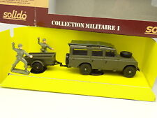 Solido Militaire Armée 1/43 - Land Rover + Remorque