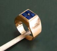 Erstklassiger alter 585er GOLD-SIEGELRING m. SAPHIR • 6,8 g Goldring Herrenring