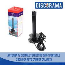 ANTENNA TV DIGITALE TERRESTRE DVB-T PORTATILE 25DB PER AUTO CAMPER CALAMITA
