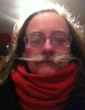 Fake handlebar moustache, stick on mustache, fake mustache, cheap fake mustache