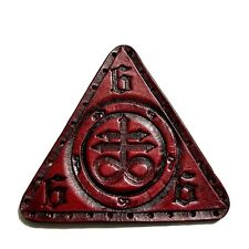 leviathan cross red antique triangle  GENUINE LEATHER  PATCH