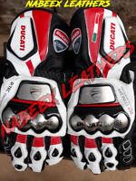 Ducati Motorbike Biker Racing Leather Gloves-Guantes de Moto-Motorradhandschuhe
