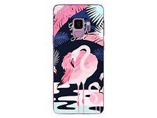 Samsung Galaxy S9 - Carcasa Flexible Y Sólido con Estampado Fantasía (Rosa 1)