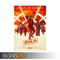 SOLO A STAR WARS STORY (ZZ010)  MOVIE POSTER - Poster Print Art A0 A1 A2 A3