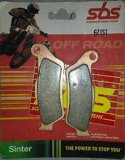 SBS 671SI 671 SI - Plaquettes de frein KTM EXC MX LC4 *NEUF*