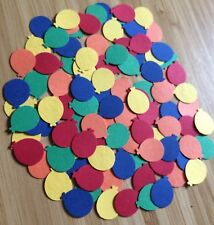 100 Rainbow Mix Coloured Balloon embellishments card making scrapbooking crafts