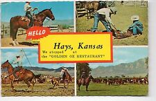 Hays KS We stopped at the Golden OX Restaurant Postcard 1960s