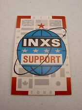 Inxs All Tour Support Backstage Concert Pass