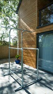 Home Gym Kit / Pull up / Dip Bar - Galvanised Tube & Interclamp Fittings