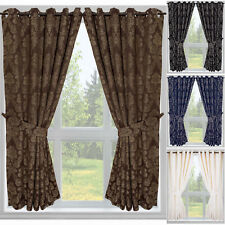 Blenheim Jacquard Floral Regency Curtains with Tie Backs - Eyelet or Tape Top