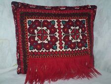 Stunning Vintage  Hand-Embroidered Woolen Multi-Color Pillowcase PILLOW