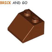 LEGO x 6 / 3039 - 4211202 Brique Toit (marron brown) Roof Brick 2x2 45° NEUF NEW