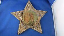 ancien porte pique aiguilles de couture en coquillages forme etoile epoque 1930