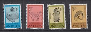 NETHERLANDS ANTILLES, 1983 Pre Columbian Pottery set of 4, mnh.