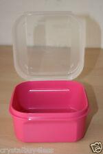 Tupperware Mini Modular Mates Signature Line Flip Top Box Storzalot Pink New