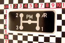 Citroen HY - Autocollant de grille de vitesses - Type H Van Sticker Aufkleber