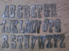 3 Inch Letters Rough Rusty Metal Vintage Western Style Complete Alphabet Stencil
