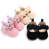 Newborn Baby Toddler Girl Crib Shoes Pram Prewalker Anti-slip Sneakers Soft Sole